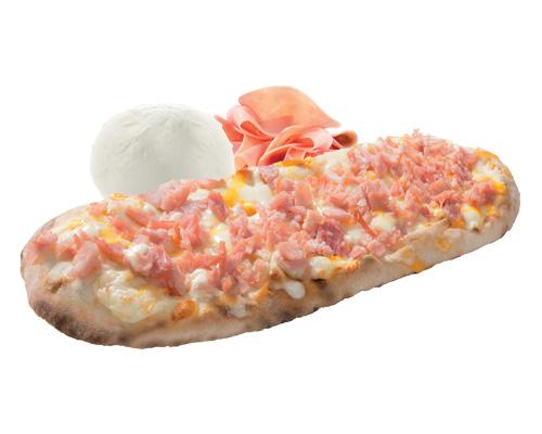 Pizza mit Kochschinken